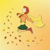 Herbstmädchen Stockfoto