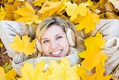 Herbstmädchen Lizenzfreies Stockfoto