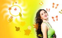 Herbstmädchen Stockfotos