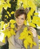 Herbstmädchenkonzept stockbild