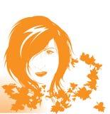 Herbstmädchen Stockfotografie
