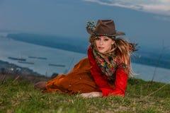 Herbstmodefrau Lizenzfreie Stockfotos