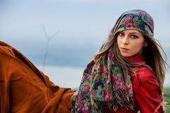 Herbstmodefrau Lizenzfreies Stockfoto