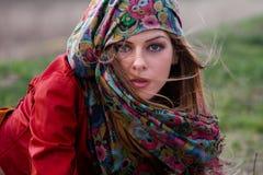 Herbstmodefrau Stockfotos