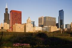 Herbstmorgen in Chicago Stockfotos