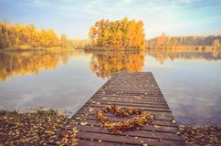 Herbstmorgenlandschaft Stockfotografie