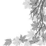 Herbstniederlassungs-Monochromschablone Stockbilder