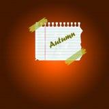 Herbstnotiz stockbild