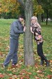Herbstpaare Lizenzfreie Stockfotos