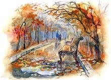 Herbstpark lizenzfreie abbildung