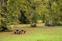 Herbstpark - Brückenansicht Lizenzfreie Stockbilder