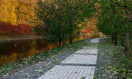 Herbstpark in Feofania Lizenzfreie Stockbilder