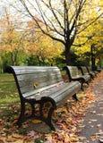 Herbstparkstraße Lizenzfreie Stockbilder