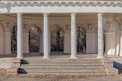 Herbstpavillon Stockfoto