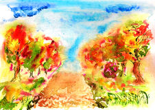 Herbstpfad Lizenzfreie Stockbilder