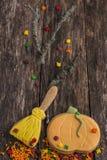 Herbstplätzchen für Halloween stockbild