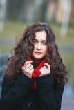 Herbstporträt eines Mädchens Lizenzfreies Stockbild