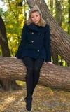 Herbstportrait des jungen Mädchens Lizenzfreie Stockfotografie