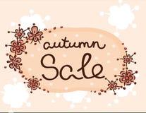 Herbsträumungsverkaufmuster-Blumendruck Stockbild