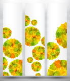 Herbstrabattverkaufsfahnen-Plakatauszug vektor abbildung