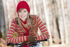 Herbstradfahren Stockbild