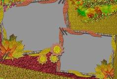 Herbstrahmen für ein Foto Lizenzfreie Abbildung