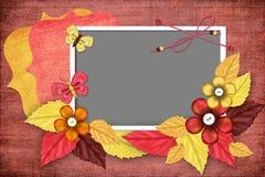 Herbstrahmen für Foto Stockfotografie