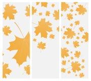 Herbstschablonenflieger oder -einladung Lizenzfreie Stockfotos