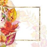 Herbstschablonenhintergrund Saisonillustrationen Netzfahnenschablone Dekoratives Bild einer Flugwesenschwalbe ein Blatt Papier in Lizenzfreie Stockbilder