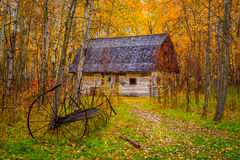 Herbstscheune lizenzfreies stockfoto