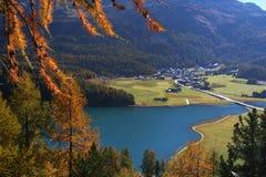 Herbstschweizerlandschaft lizenzfreies stockbild