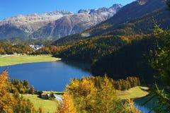 Herbstschweizerlandschaft stockfotografie