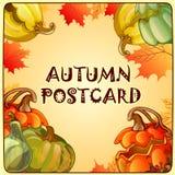 Herbstskizze mit Raum für Text lizenzfreie abbildung