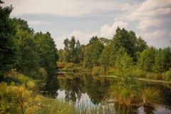 Herbstsommerlandschaft Stockfotografie
