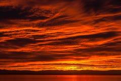 Herbstsonnenuntergang Stockbilder