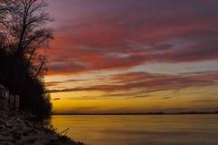 Herbstsonnenuntergang Stockbild