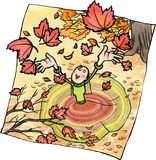 Herbstspaß Lizenzfreie Abbildung