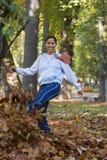 Herbstspaß Stockfoto