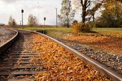 Herbstspur Lizenzfreie Stockfotografie