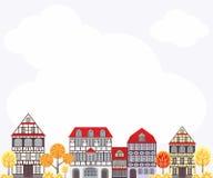 Herbststadthintergrund Lizenzfreie Stockbilder