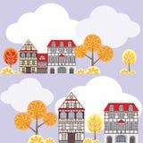 Herbststadtmuster Stockbilder