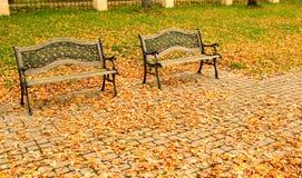 Herbststadtpark Lizenzfreies Stockfoto