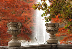 Herbstszene in Madrid Lizenzfreies Stockfoto