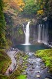 Herbstszene von Shiraito-Wasserfall Lizenzfreie Stockfotografie