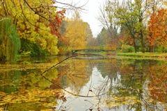Herbstszene von Skopje lizenzfreies stockfoto