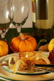 Herbsttabelleneinstellung lizenzfreie stockfotografie