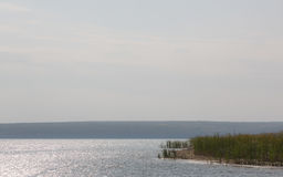 Herbsttag auf dem See Stockbild