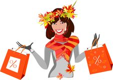 Herbstverkauf Stockfoto