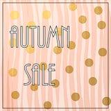 Herbstverkauf Beschriftung Stockbilder