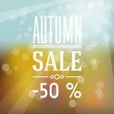 Herbstverkaufsaufkleber Stockfoto